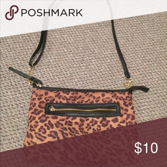 Cheetah print bag! Barely used and still extra fierce looking! Maurices Bags Crossbody Bags