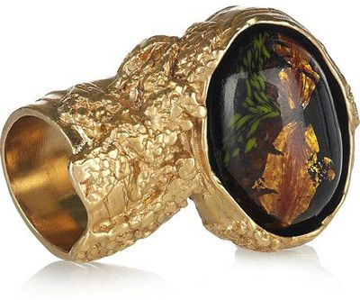26728066d9d Yves Saint Laurent Arty Gold-Plated Glass Ring Price: $250.00 at net-a-porter.com  This ring is a status symbol as much as it is an icon.