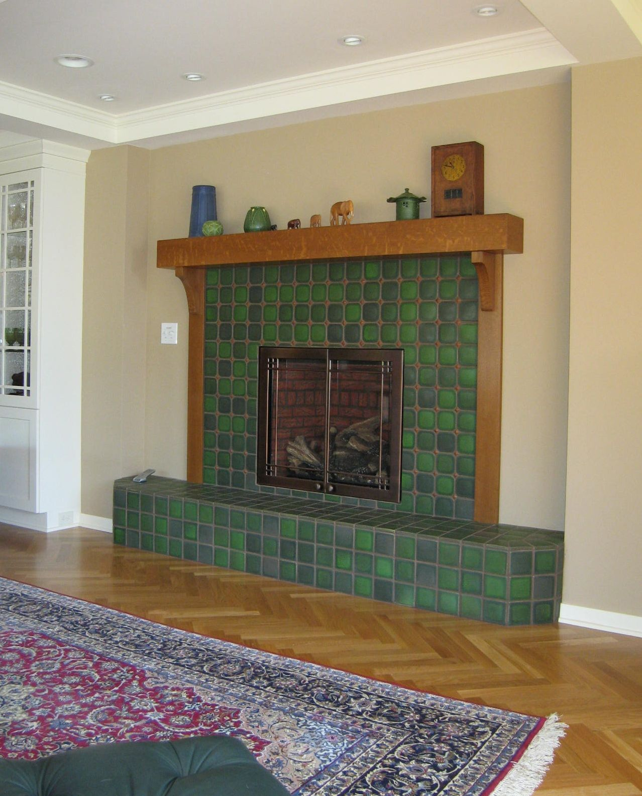 Ideas Fabulous Green Stone Tile Fireplace Surround And Wood Living Room Wooden Tiles Fireplace Tile Surround Stone Tile Fireplace Fireplace