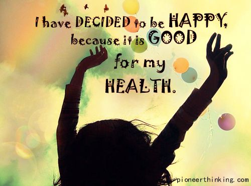 I Decided To Be Happy Because Its Good For My Health. #Happiness Quotes #