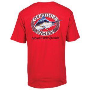651340ce7874 Offshore Angler Logo Short-Sleeve Pocket T-Shirt for Men - Blue Radiance -  Tomato - 3XL