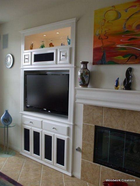 white built in media cabinet niche google search new house pinterest media cabinet. Black Bedroom Furniture Sets. Home Design Ideas