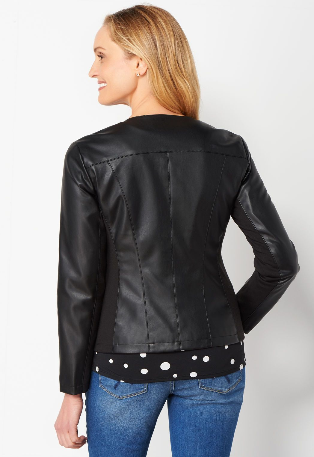 Collarless Seamed Petite Jacket (With images) Petite