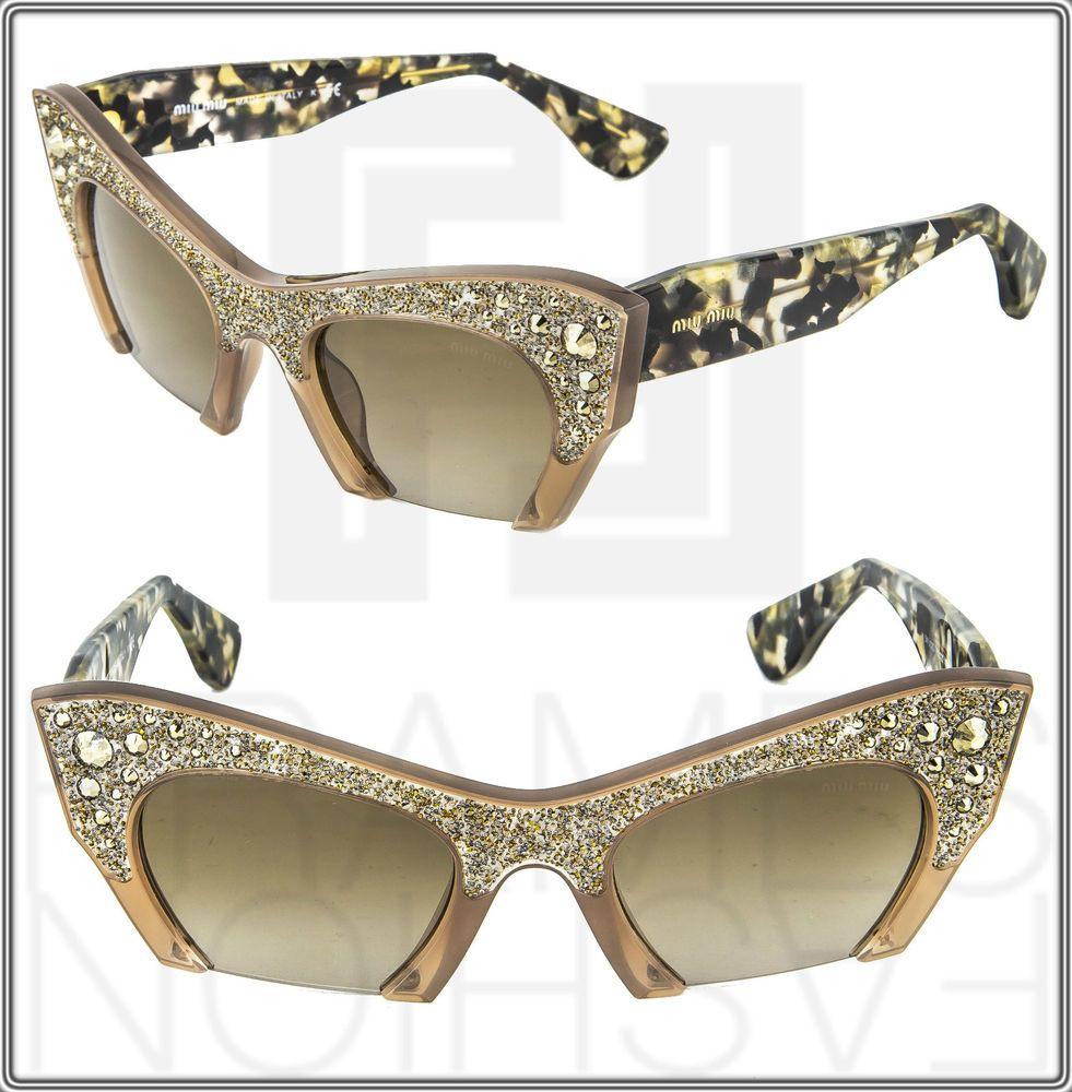 Swarovski crystal-embellished sunglasses - Black Miu Miu Eyewear h23Vg