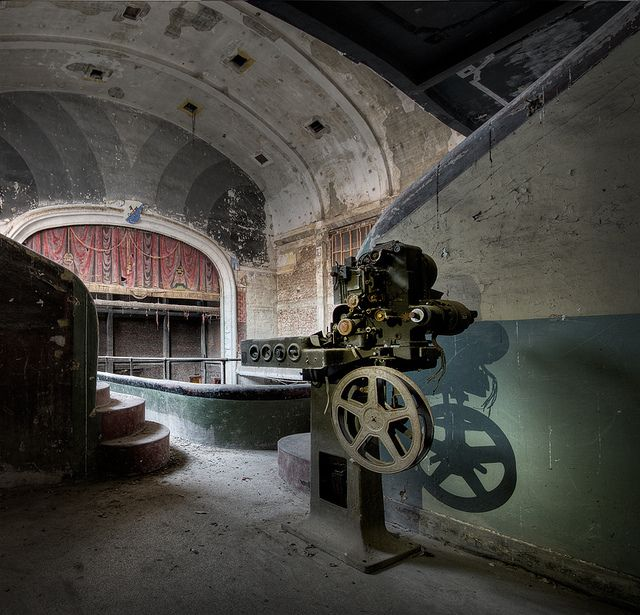 Old Decaying Film Projector At An Abandoned Theater Places - Photographer captures abandoned worlds time forgot