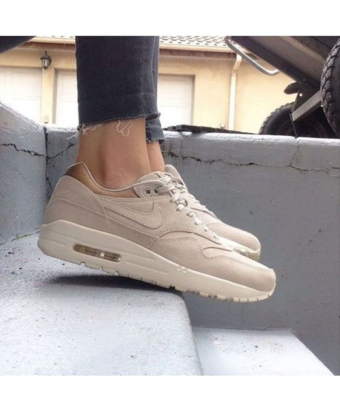 ZM26S) Nike Air Max 1 Premium All Beige Trainer Cheap | Nike ...