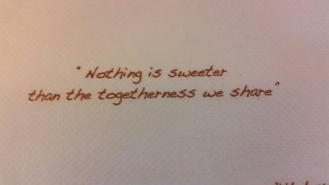 Nothing is sweeter than togetherness... ^_^