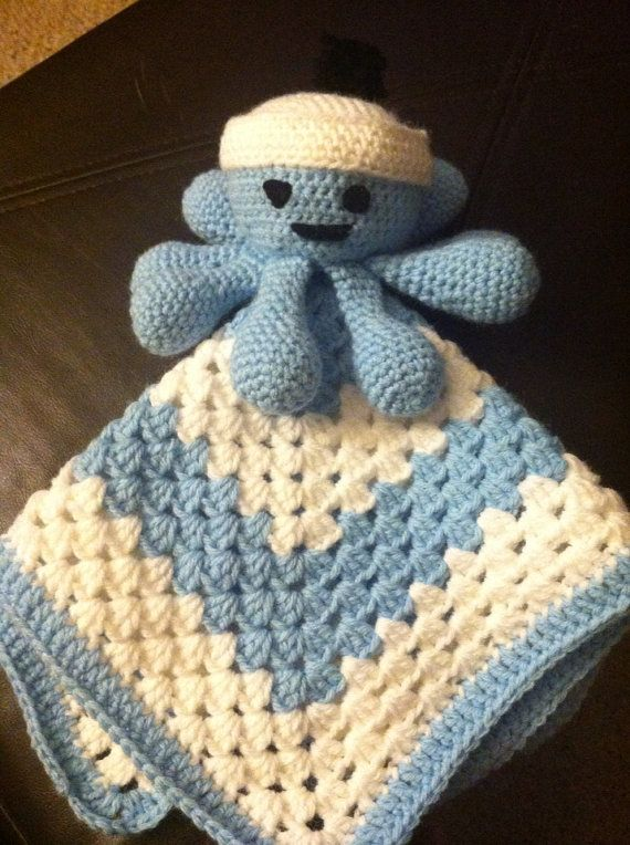 Adorable Octopus Sailor Security Blanket On Etsy 20 00