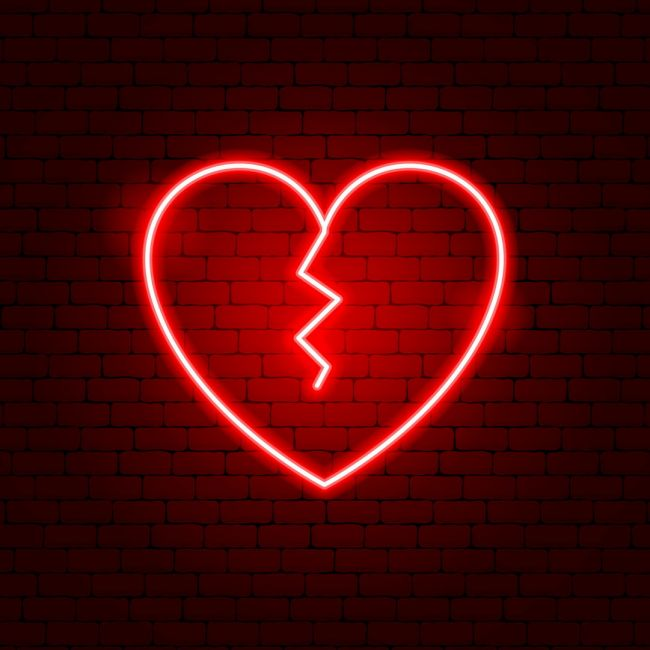 Broken Heart Led Neon Sign In 2020 Broken Heart Wallpaper Broken Heart Emoji Neon Signs