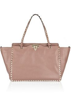 Valentino The Rockstud medium leather trapeze bag | NET-A-PORTER