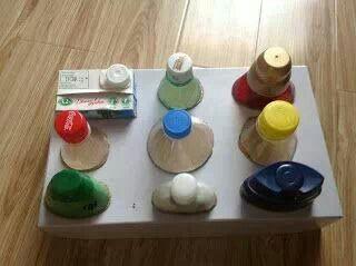 Juego de tapas de inspiracion Montessori | Actividades montessori ...