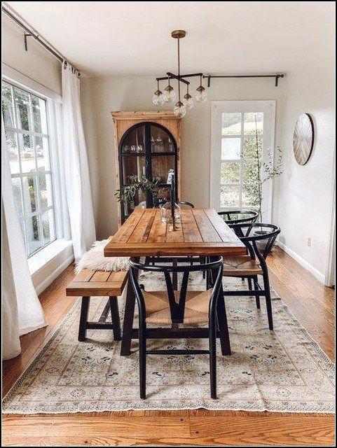 139 latest farmhouse decor ideas for dining room -page 10 » myyhomedecor.com #farmhousediningroom