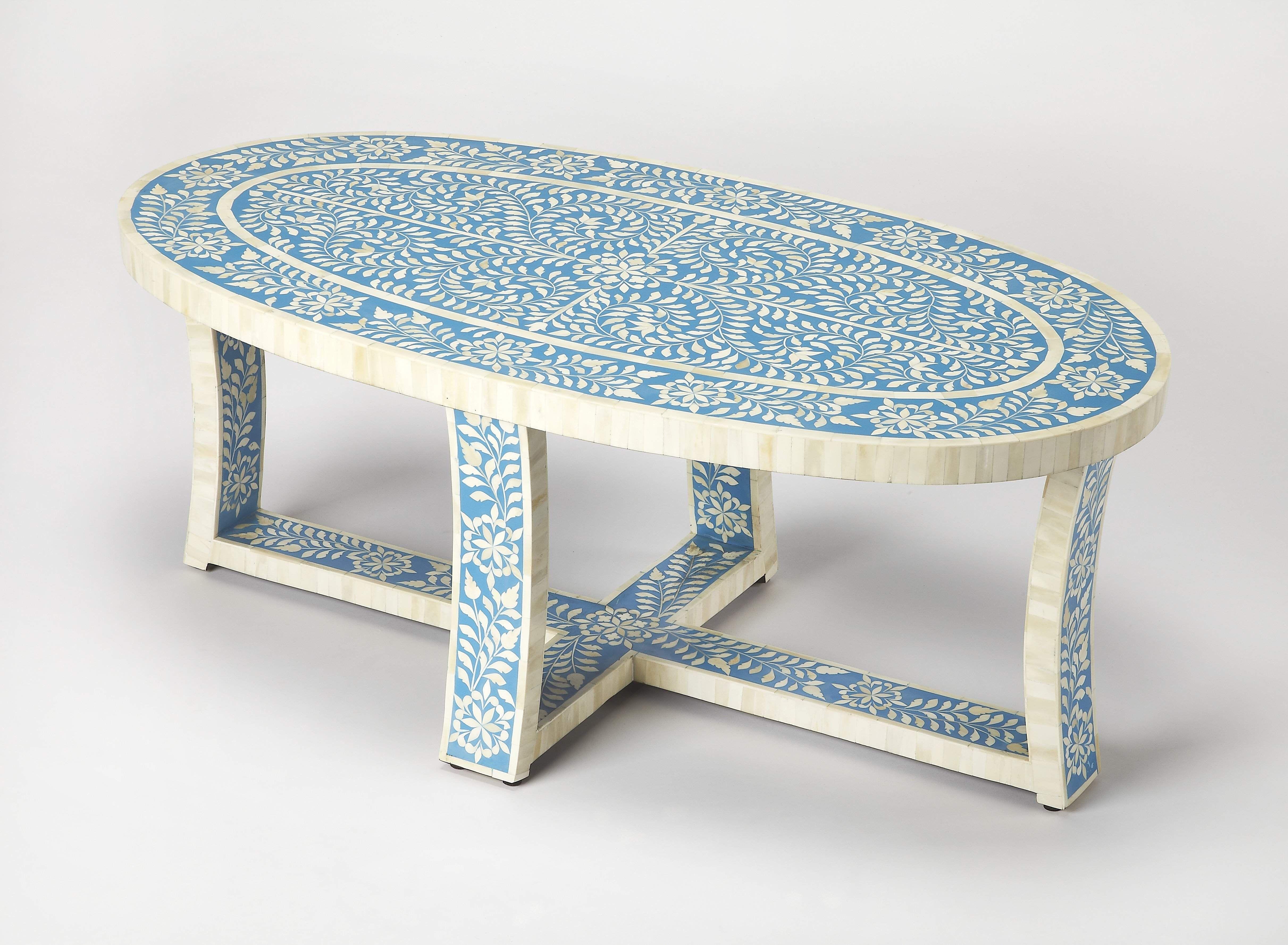 Butler Sabina Blue Bone Inlay Coffee Table 3784319