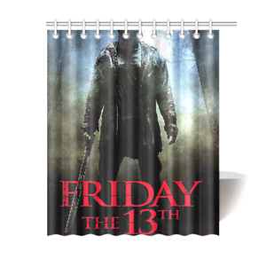 Jason Friday The 13th Bathroom Waterproof Shower Curtain Is Waterproof Polyester Fabric Shower Shower Curtain Decor Shower Curtain Personalized Shower Curtain