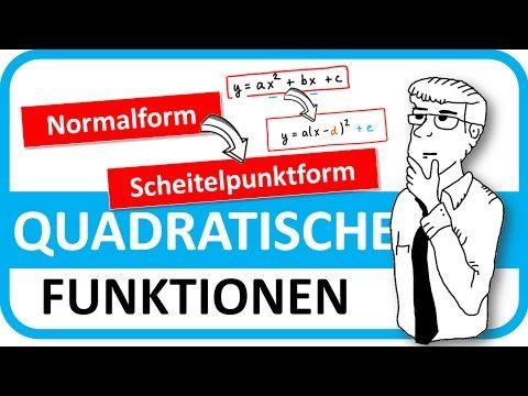 089 - Quadratische Gleichungen umformen (Normalform in ...