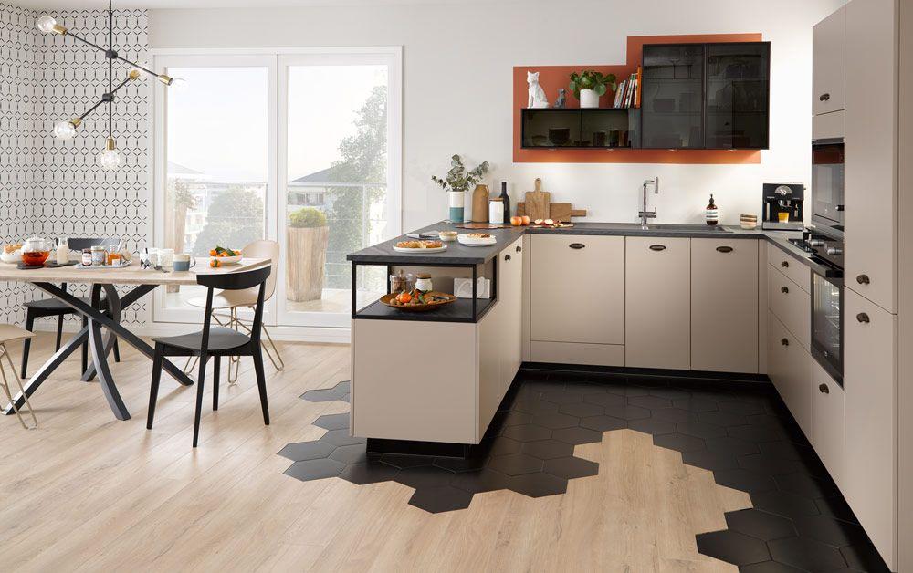 Mix 39 cuisine moderne amenagement cuisine et cuisine en u - Amenagement cuisine salon ...