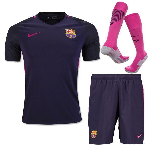 pretty nice 7e3a9 bc12c Barcelona Jersey 2016-17 Away Soccer Kit (Shirt+Shorts+Socks ...