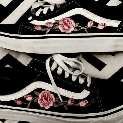 Vans with flower designs | Vans shoes, Me too shoes, Shoes