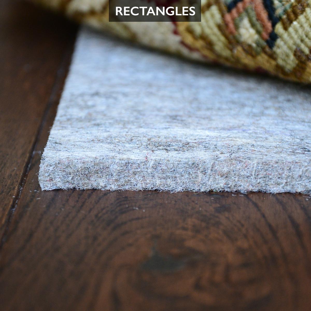 Recycled Felt Rug Pad For Hardwood Floors Is Safe For All Floors