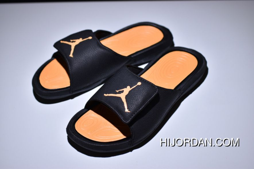 premium selection 69626 69b3d Air Jordan Hydro 6 Sandals Black Yellow Women Men Outlet in ...