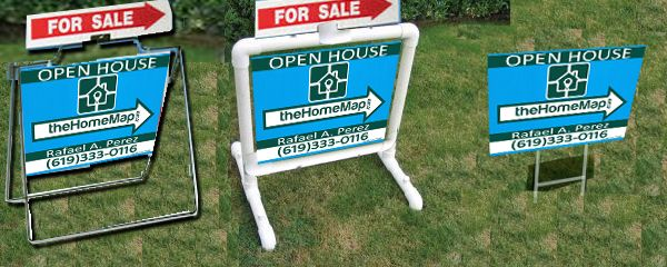 Here Is How To Make A Diy Real Estate Yard Sign Using A Separate Frame For The Sign Frame And Legs Y Real Estate Yard Signs A Frame Signs Real Estate