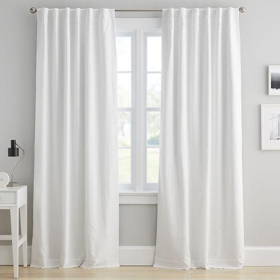 Washed Linen Blackout Curtain Panel Linen Blackout Curtains