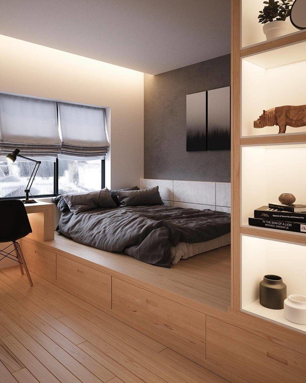 Minimal Interior Design Inspiration 210 Desain Interior Ide Kamar Tidur Ide Dekorasi Kamar Tidur Bedroom interior design inspiration