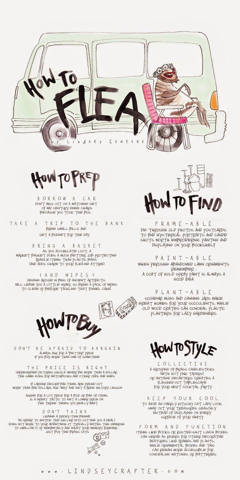 How To Flea An Info Graphic Guide Markets Fleas