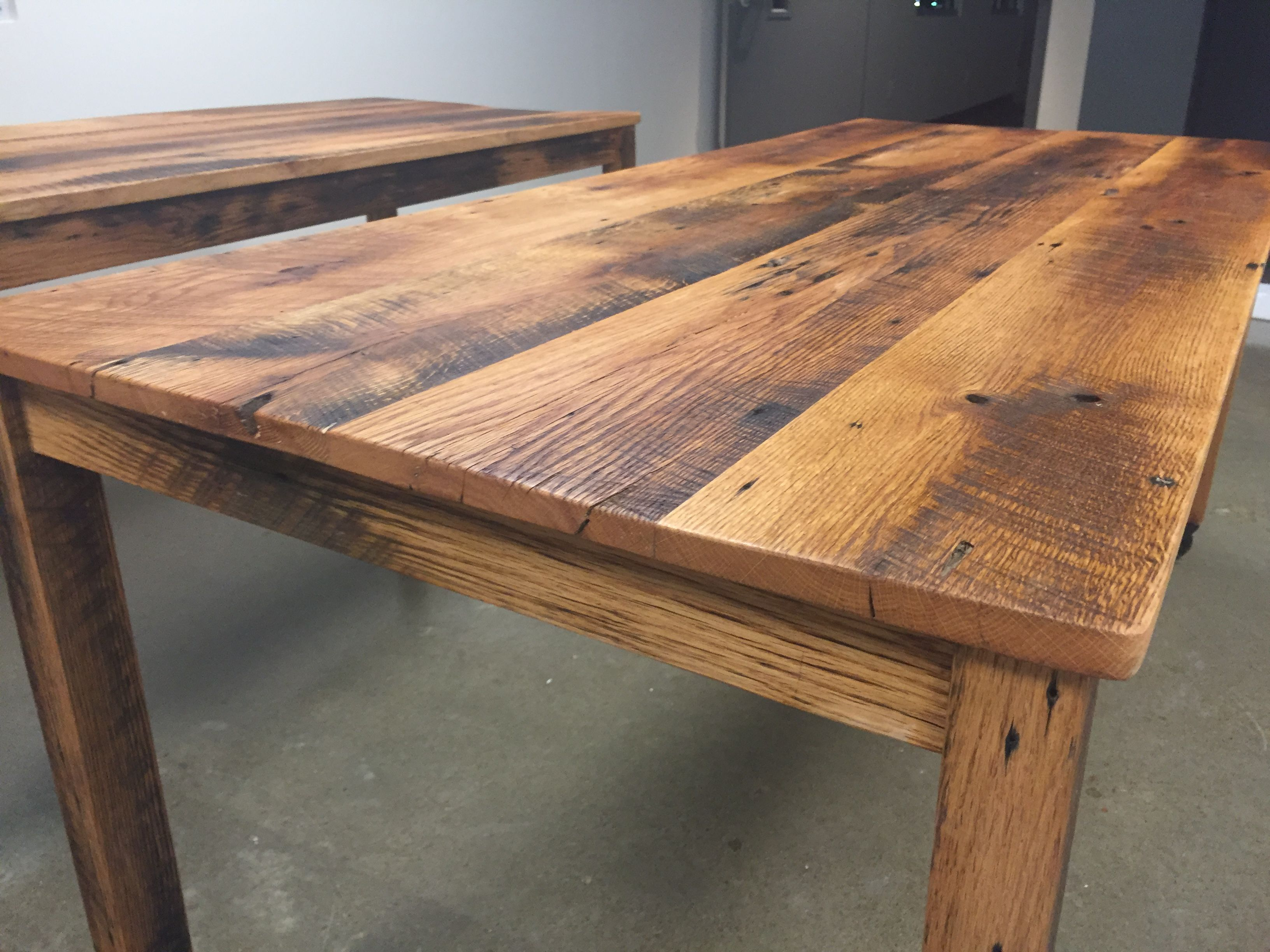 Farmhouse Table On Wheels