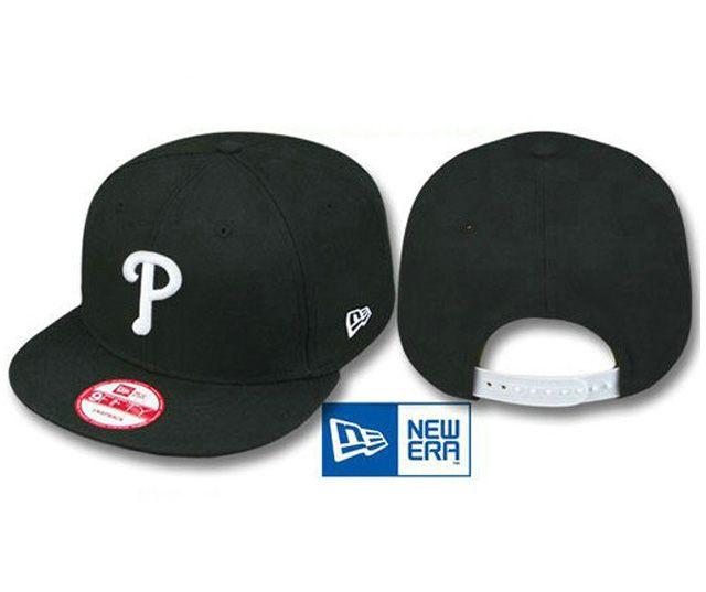 promo code fa247 50c11 New Era MLB Philadelphia Phillies Caps Black White 3833! Only  8.90USD