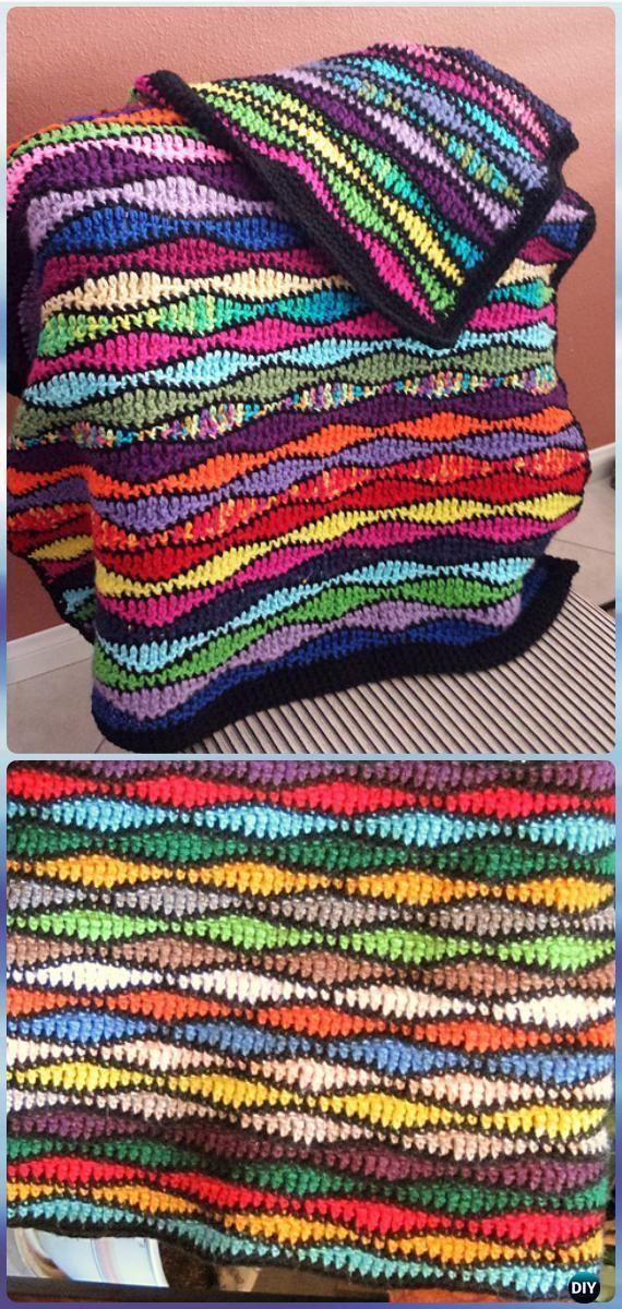 Crochet Scrumptious Scraps Afghan Blanket Free Pattern - Crochet ...