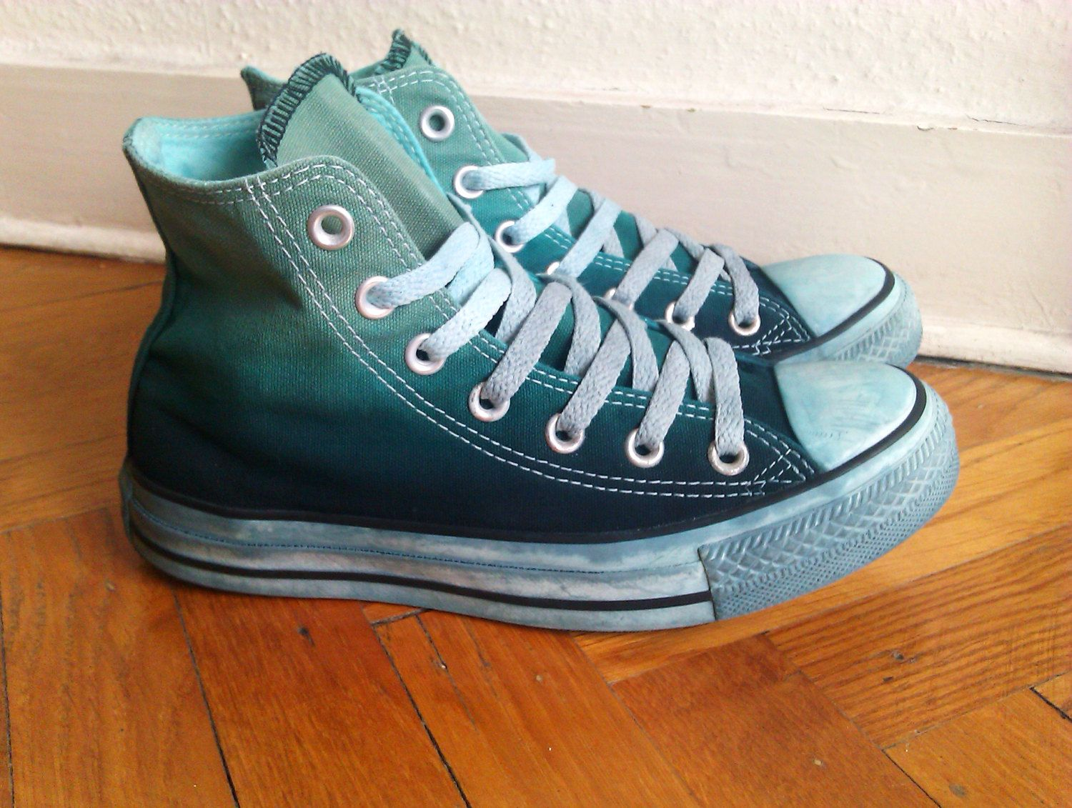 03fc9c5aeeab5 Upcycled dip dye ombre Converse all stars chucks | Pumped up kicks ...