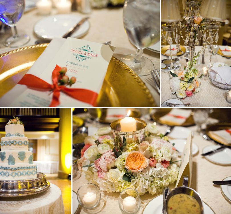 Coral Wedding Reception Ideas: Peach, Coral, Aqua, Gold, And Silver Wedding Details