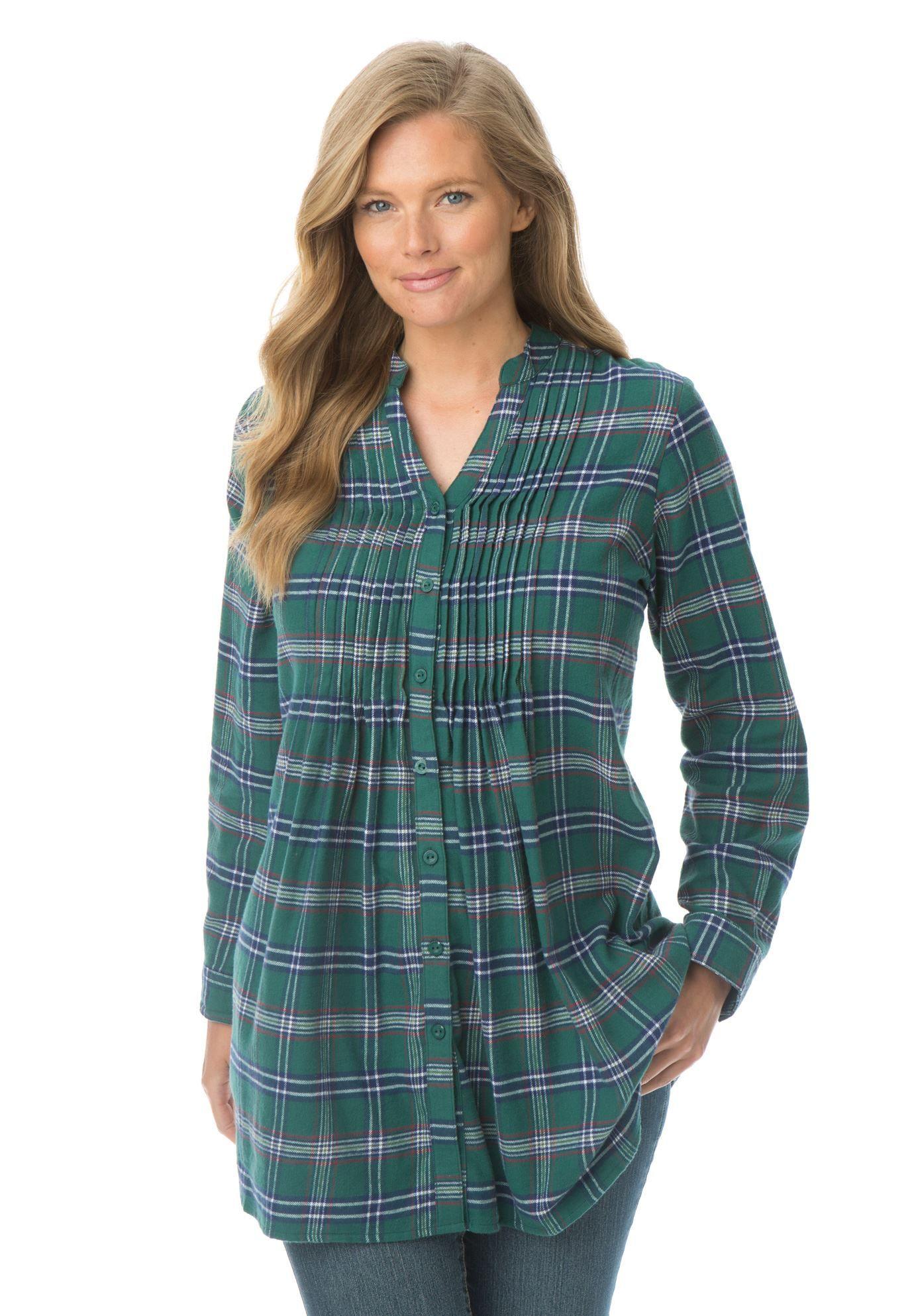 e11904c74d572 Pintuck flannel bigshirt