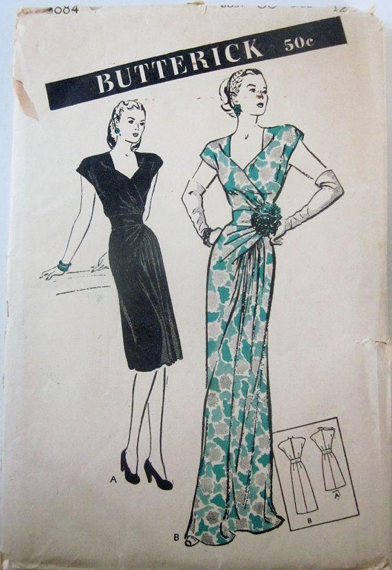 Butterick 3689 Womens 1940s Dinner Dance Dress by Denisecraft, $75.00