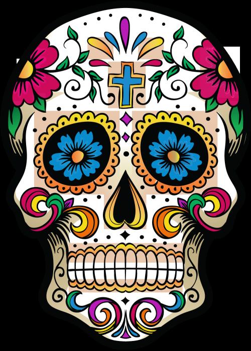Afficher l 39 image d 39 origine day of the dead pinterest images t te de mort et tete de - Dessin tete de mort mexicaine ...