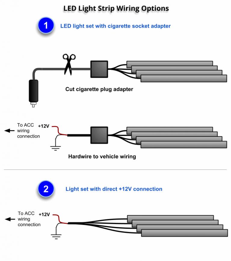led light strip wiring diagram  led light strips strip