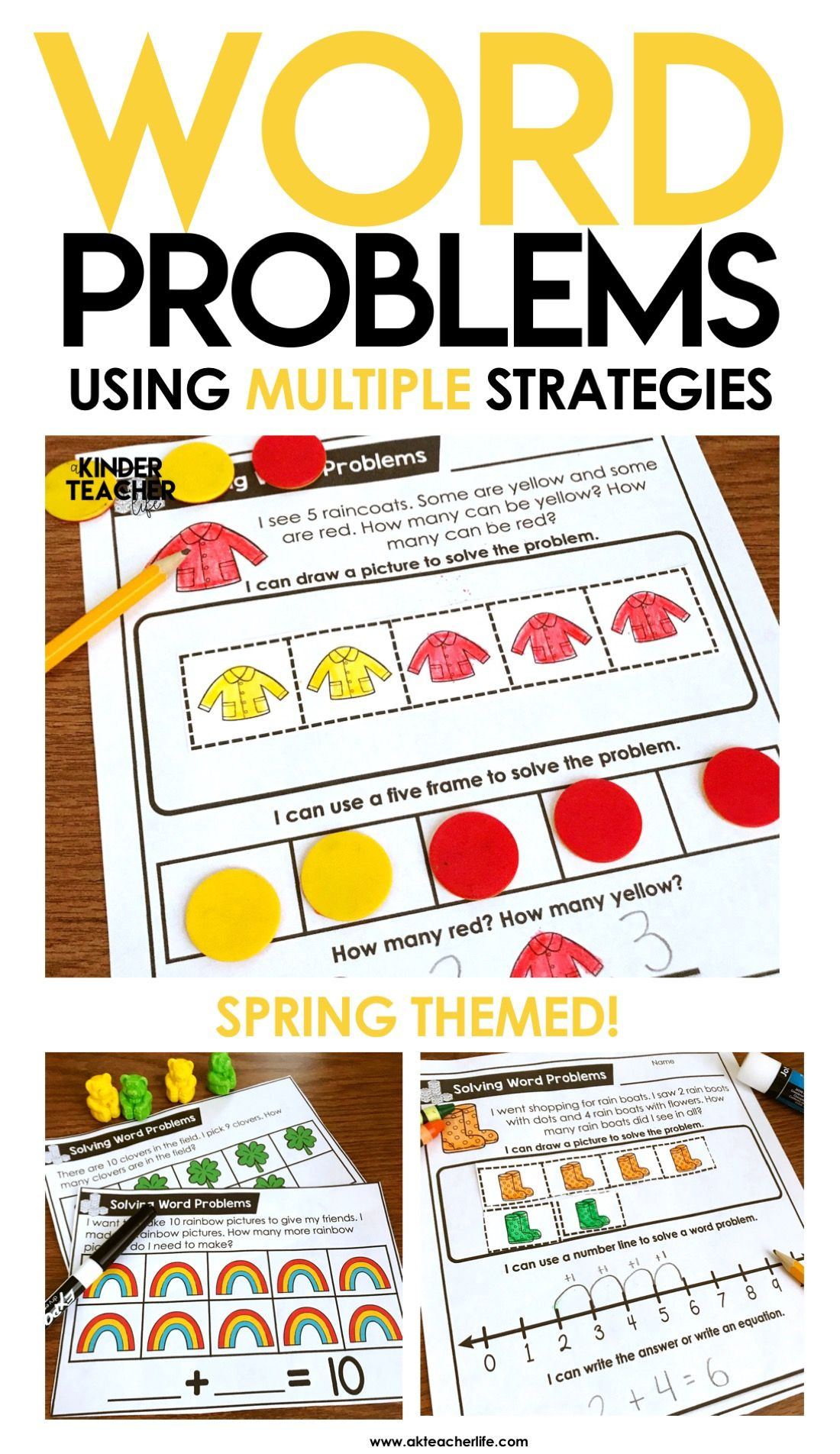 Spring Themed Word Problems Addition And Subtraction