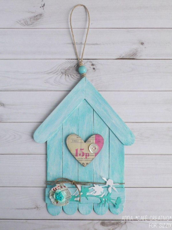 30 DIY Popsicle Stick Decor Ideeën om uw interieur thuis te vergroten,  #Decor #DIY #ideeën #... #birdhouses