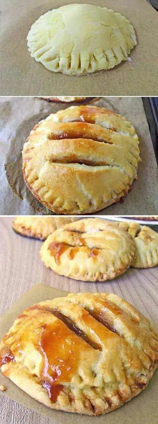 Apple carmel pies