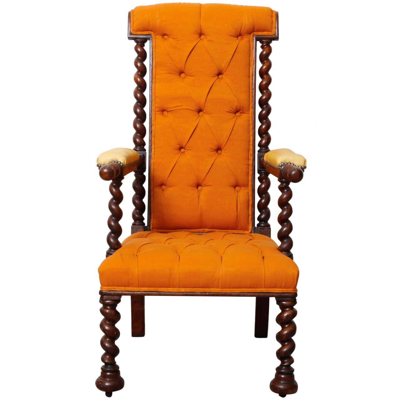 Victoian Oak Armchair England 1890s Sitting Pretty  # Muebles Dubarry
