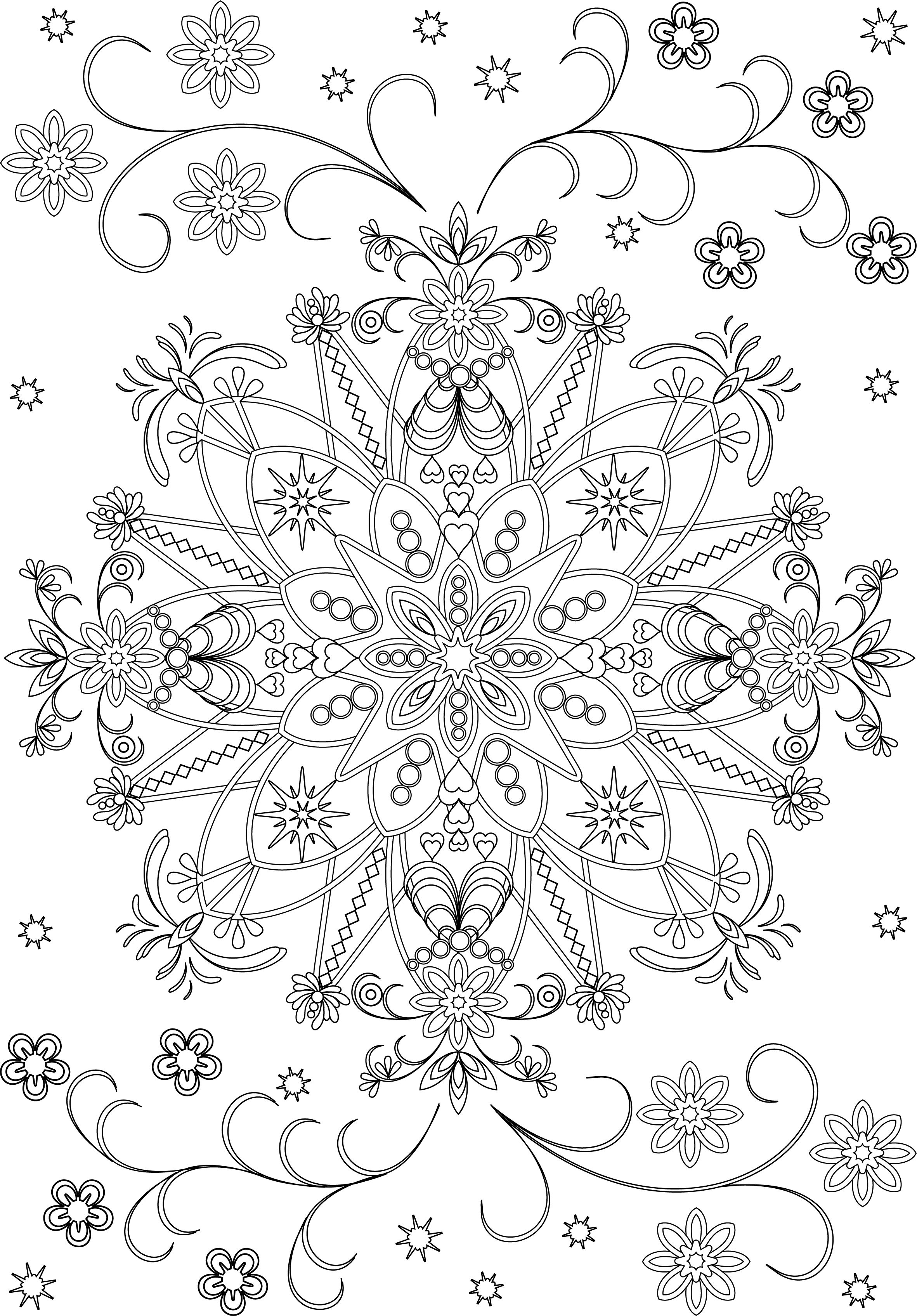 Decorative Round Ornament Flower Mandala Vector Illustration For