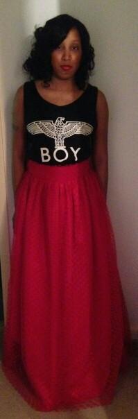 #boylondon #fashion #maxiskirt #highwaistedmaxi high-waisted maxi and tank