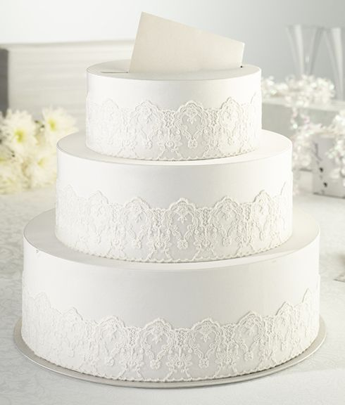 Three Tier Cream Lace Cake KeepsakeCard Box Card Boxes