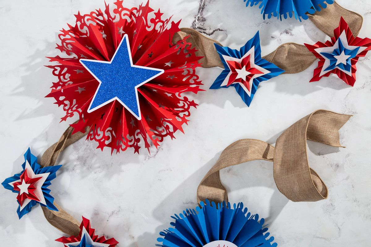 Independence Day Rosette Banner
