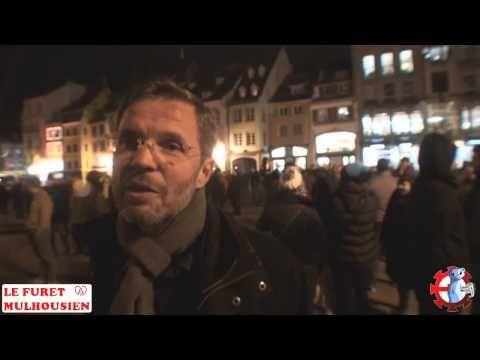 Hommages au victimes de Charlie Hebdo à Mulhouse
