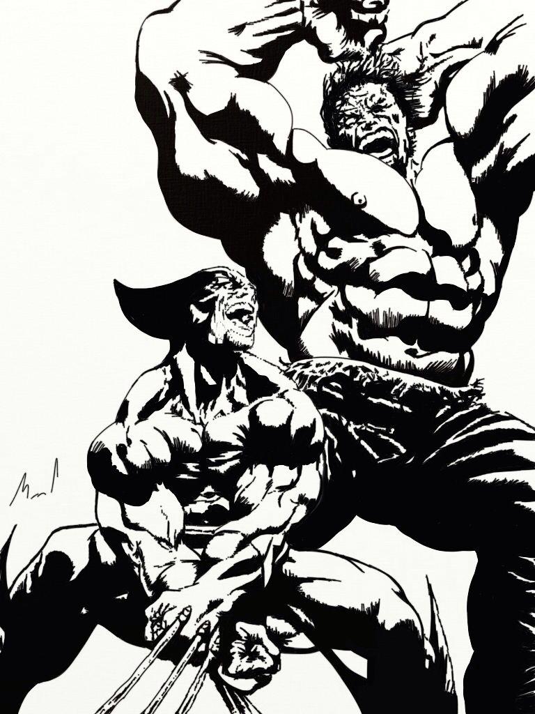 Wolverine vs Hulk Dibujos Pinterest