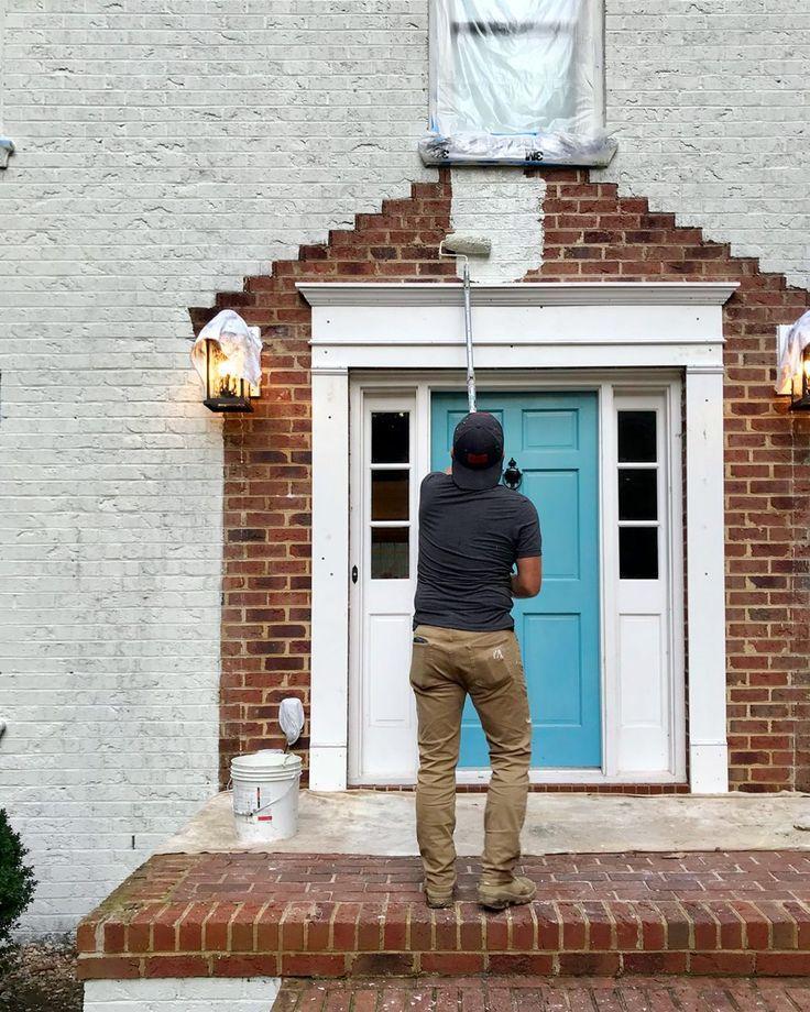 Pintando Nuestra Casa De Ladrillo Blanco Ladrillos Blancos Ladrillos Pintados Ladrillo