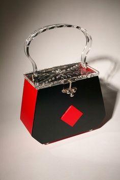 lucite deco purse | lucitelux.com