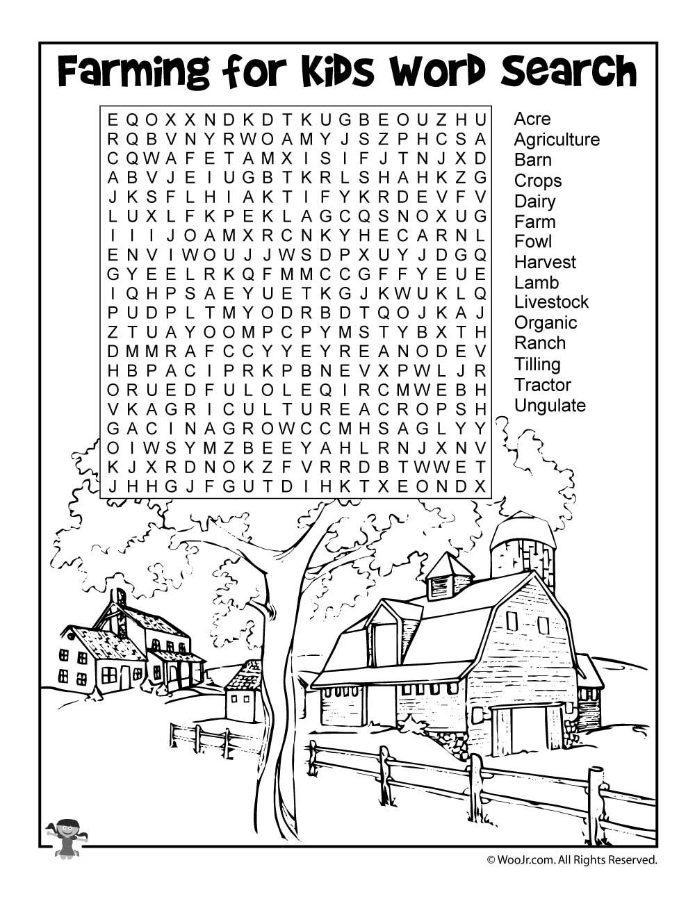 Learn About Farming An Elementary Lesson Plan Woo Jr Kids Activities Elementary Lesson Plans Elementary Lesson Kids Word Search [ 1294 x 1000 Pixel ]